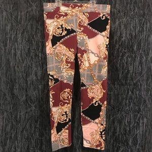 Gold patterned leggings